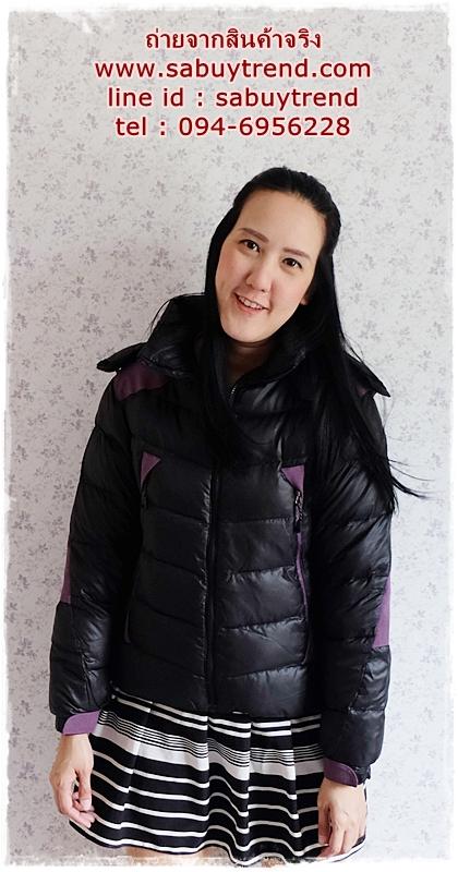 ((ขายแล้วครับ))((จองแล้วครับ))ca-2814 เสื้อแจ๊คเก็ตขนเป็ดสีดำ รอบอก40