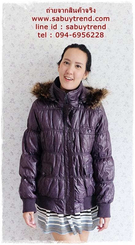 ((ขายแล้วครับ))((คุณศศิธรจองครับ))ca-2808 เสื้อโค้ทกันหนาวผ้าร่มสีดำ รอบอก44