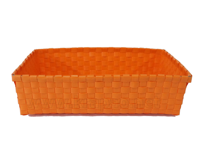 กระเช้าเปล่า ราคาถูก ขายส่ง กระเช้าของขวัญไร้หู สีส้ม ขนาด 13 นิ้ว