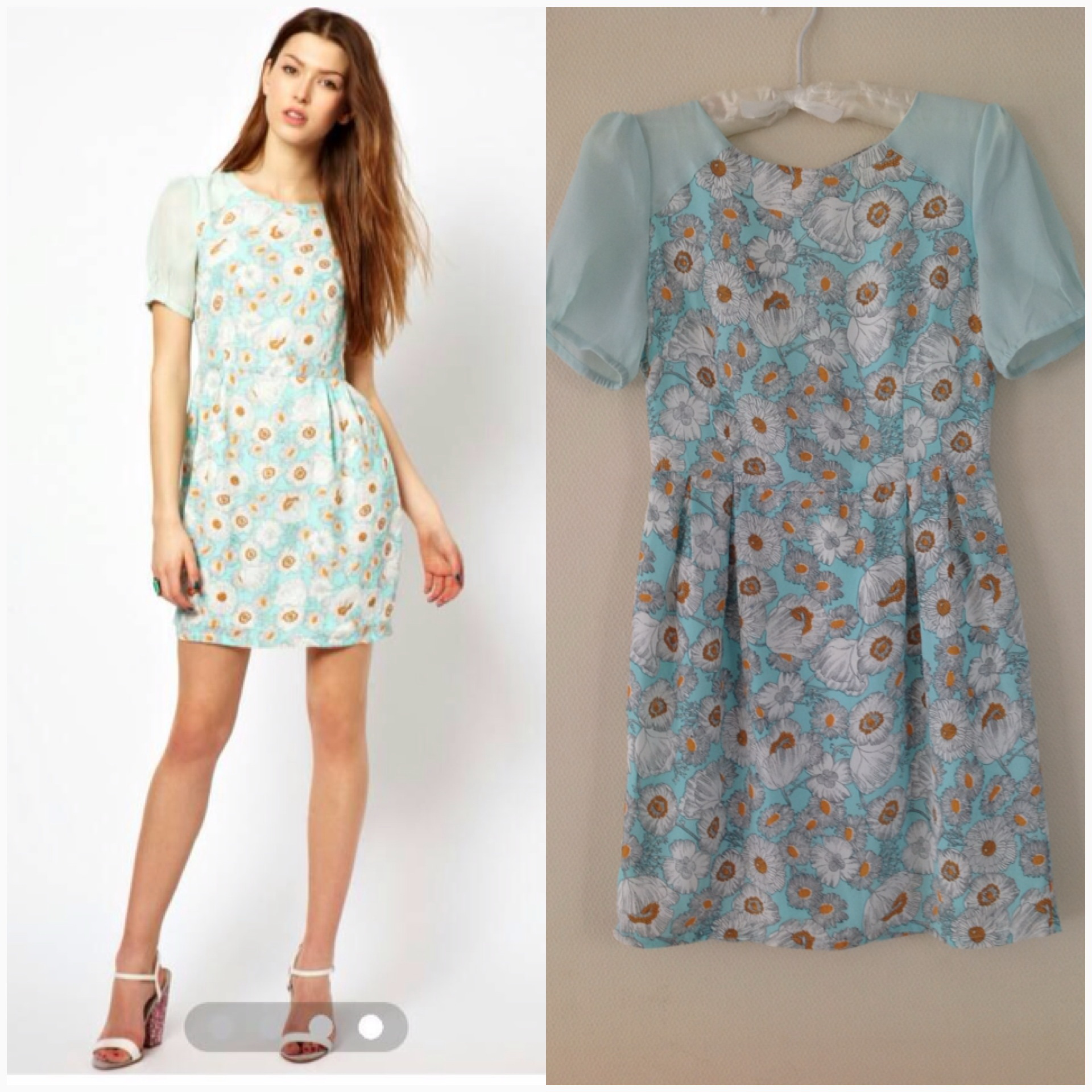 Asos by Max C floral Dress Size uk8-10