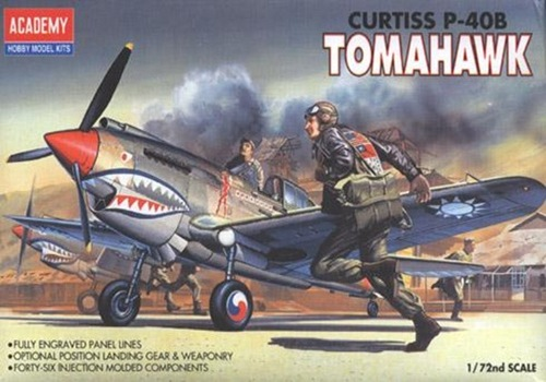 AC12456 TOMAHAWK CURTISS P-40B 1/72