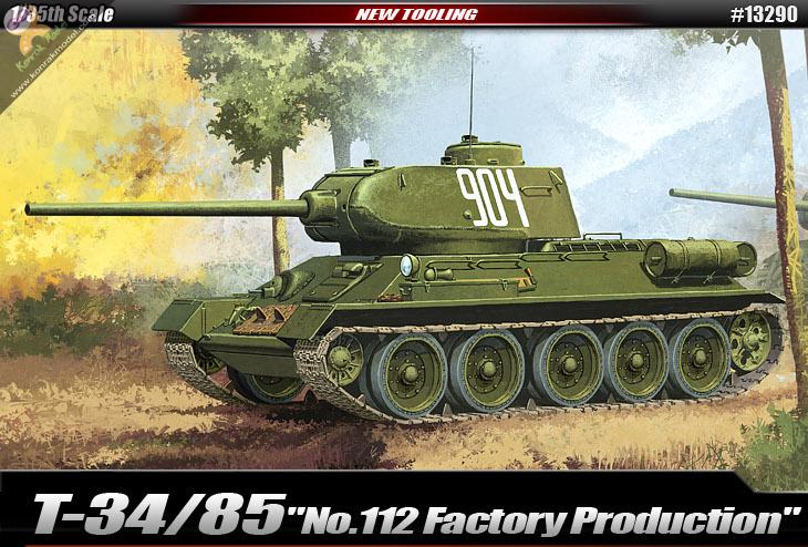 "AC13290 T-34/85 ""No.112 Factory Production"" 1:35"