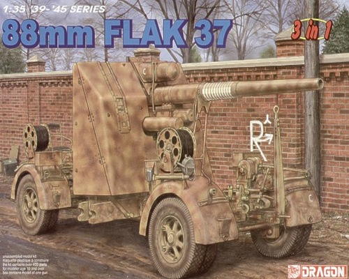 DRA6287 88mm. FLAK 37 1/35