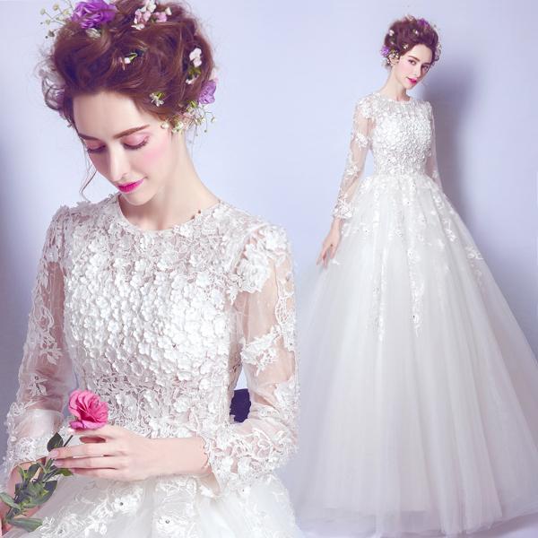 (Pre-Order) ชุดแต่งงาน <แขนยาว> รหัสสินค้า WDL0780