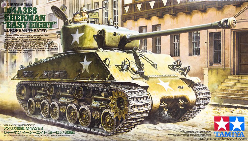 TA35346 US Medium Tank M4A3E8 Sherman 1/35