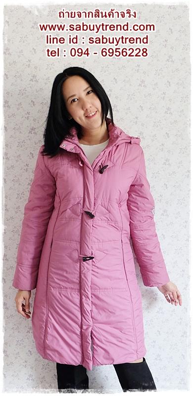 ((ขายแล้วครับ))((คุณNudchanaddaจองครับ))ca-2580 เสื้อโค้ทกันหนาวผ้าร่มสีม่วง รอบอก38