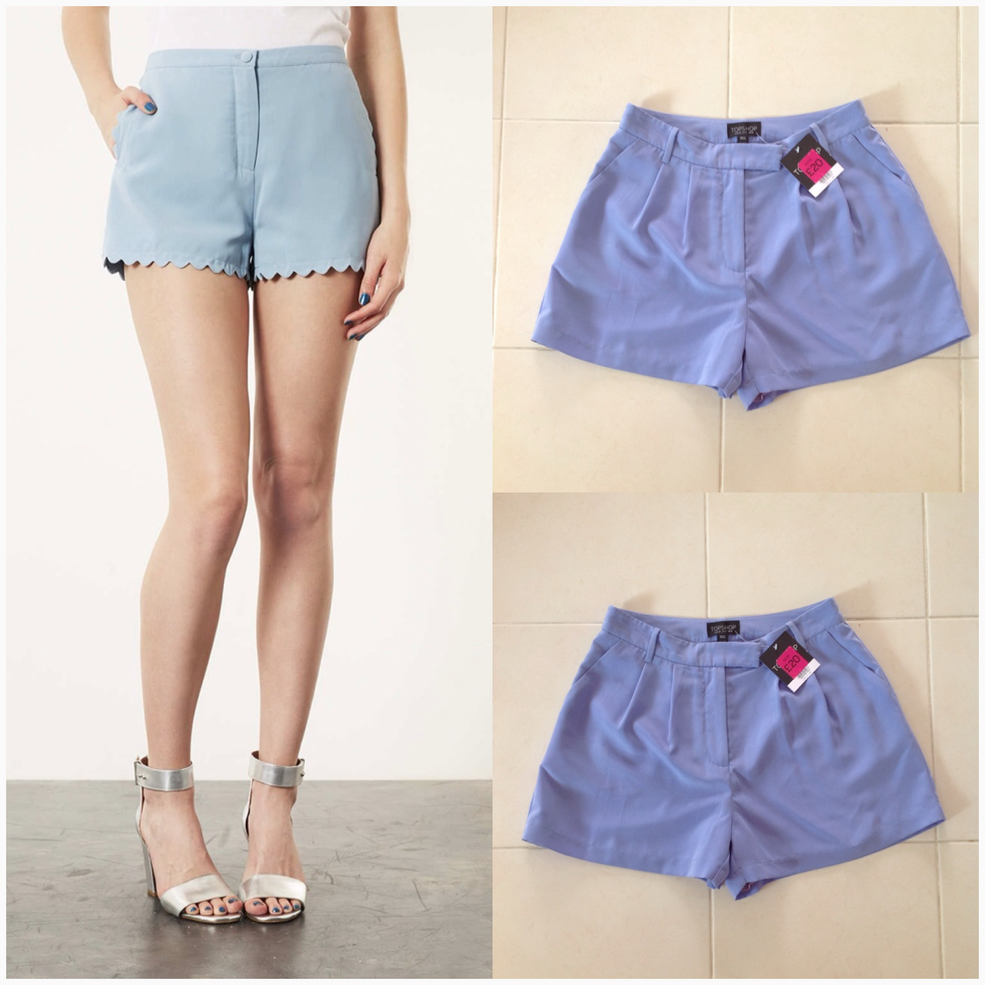 Topshop blue short Size uk8