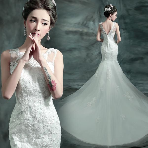 (Pre-Order) ชุดแต่งงาน <แขนกุด หางปลา> รหัสสินค้า WDL0701