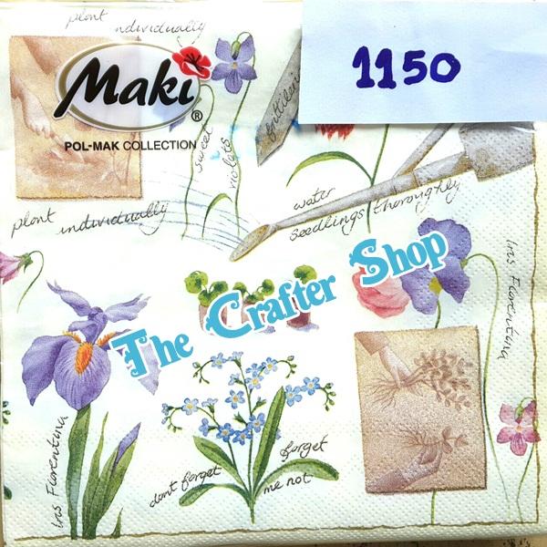 napkin ลายดอกไม้ (รหัสสินค้า NA-1150)