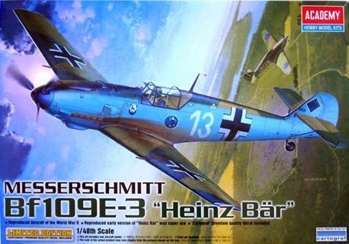 """AC12216 MESSERSCHMITT BF109E-3 """"HEIKE BAR"""" 1/48"""