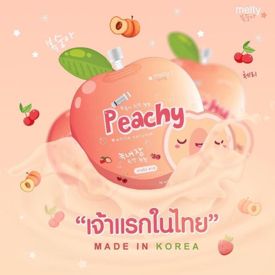 Peachy White Serum 30 ml. เซรั่มลูกพีชเกาหลี