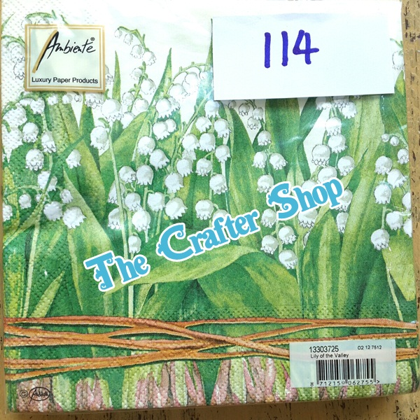 napkin ลายดอกไม้ (รหัสสินค้า NA-114)