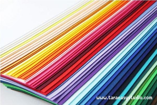 ผ้าสักหลาดเกาหลีสีพื้นขนาด 1.2mm (Pre-order) ขนาด 45x36 cm/ชิ้น No.A001-A062