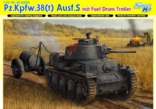 DRA6435 PZ.38(t)AUSF.S W/DURM TRAILER (1/35)