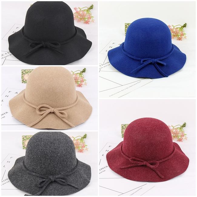 หมวก Bow Knot Wide Eaves