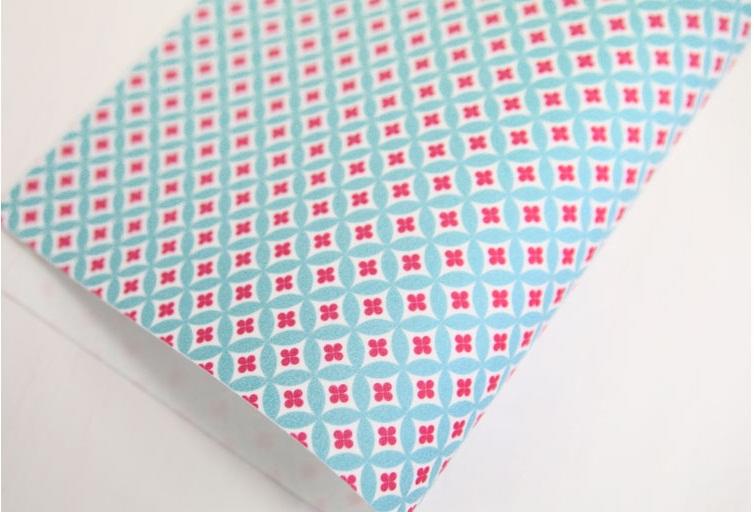 ผ้าสักหลาดพิมพ์ลายฟองดอกไม้จากเกาหลี ขนาด 1 mm Size 42x30 cm / ชิ้น (Pre-order)