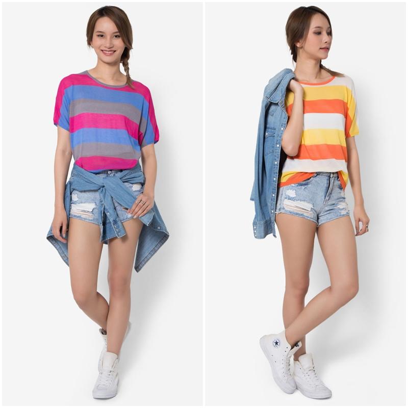 เสื้อเบลาส์ Summer Stripe Knit