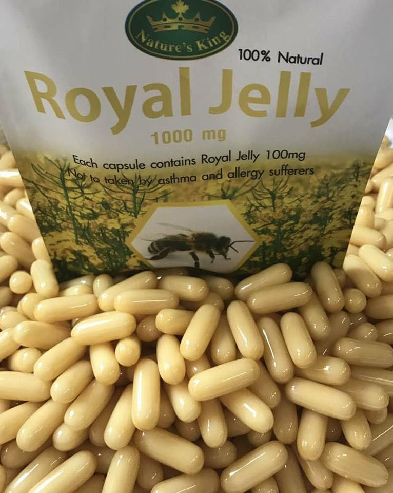 Nature's King Royal Jelly 1,000 mg. นมผึ้ง เนเจอร์ คิง