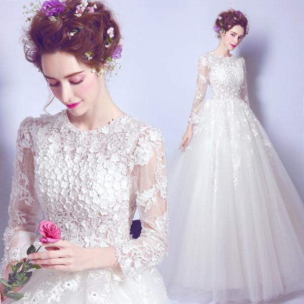 (Pre-Order) ชุดแต่งงาน <แขนยาว> รหัสสินค้า WDL0835