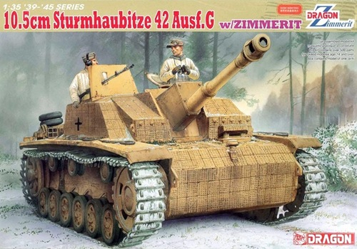 DRA6454 10.5cm Sturmhaubitze 42 Ausf.G w/Zimmerit (1/35)