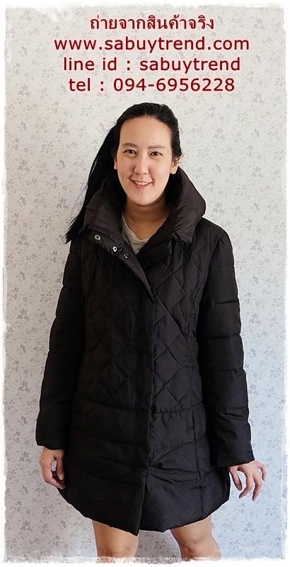 ((ขายแล้วครับ))((คุณNEWจองครับ))ca-2875 เสื้อโค้ทขนเป็ดสีดำ รอบอก40