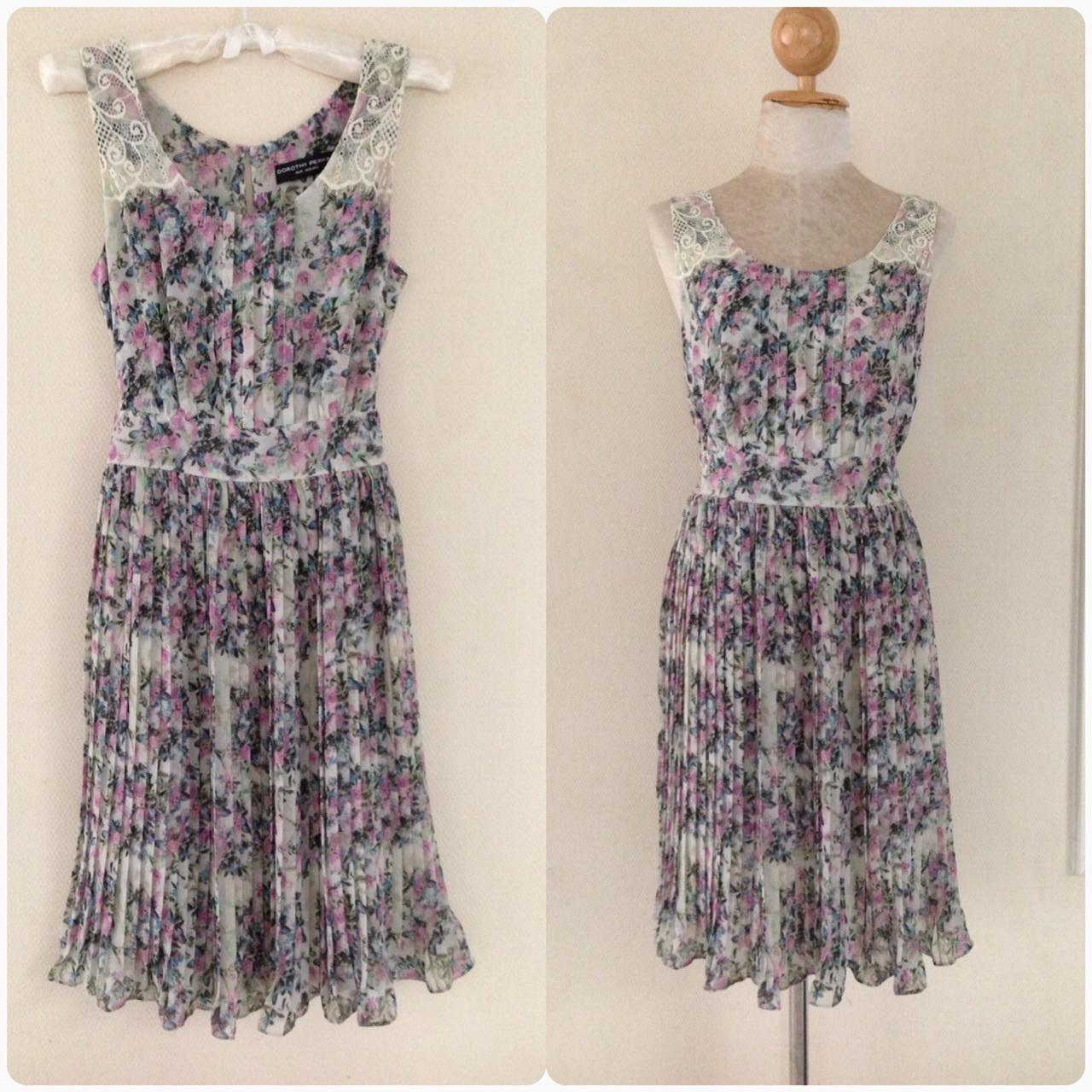 Dorothyperkins Floral Dress Size Uk8-uk10