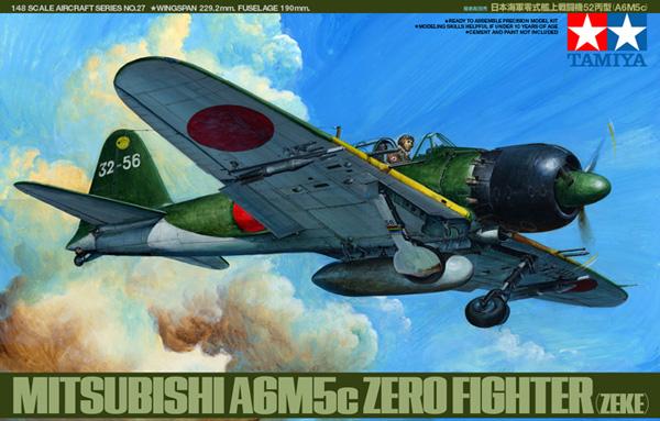 TA61027 A6M5C Type 52 Zero Fighter Kit 1/48