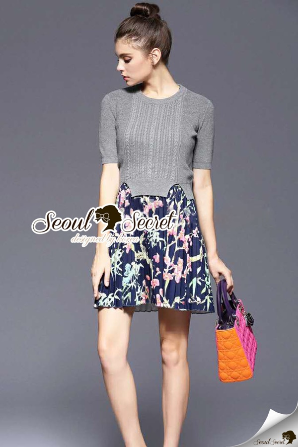 Seoul Secret Skirt Dress Knit Set