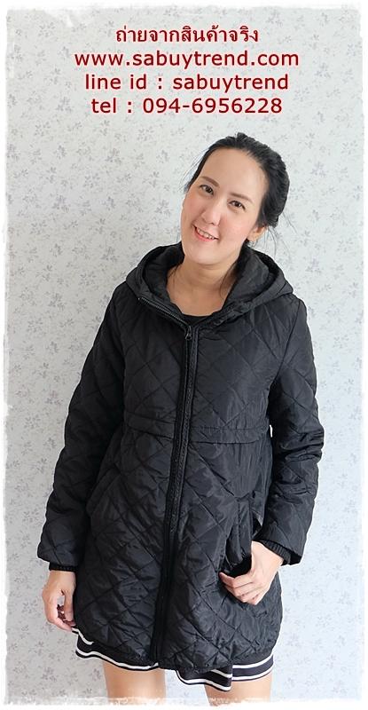 ((ขายแล้วครับ))((คุณnatcharatจองครับ))ca-2734 เสื้อโค้ทกันหนาวสีดำ รอบอก39