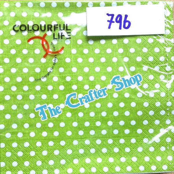 napkin ลายจุดขาวเขียว (รหัสสินค้า NA-796)