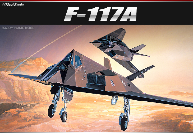 AC12475 F-117A STEALTH FIGHTER/BOMBER (1/72)