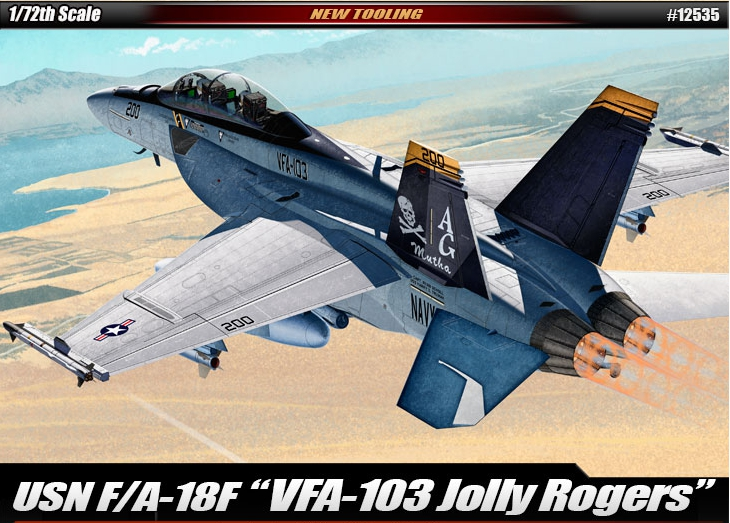 "AC12535 USN F/A-18F ""VFA-103 Jolly Rogers"" 1/72"