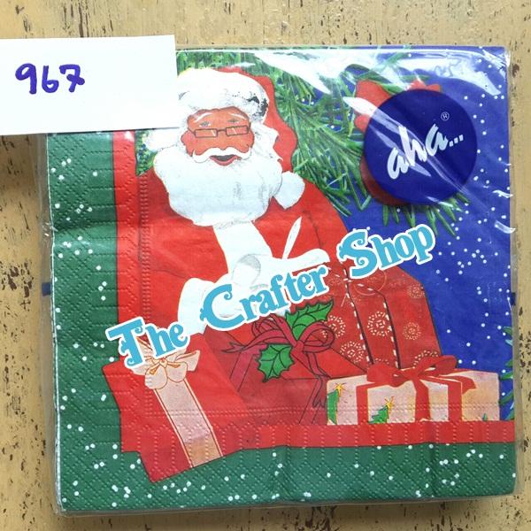 napkin ลายคริสมาสต์ (รหัสสินค้า NA-967)