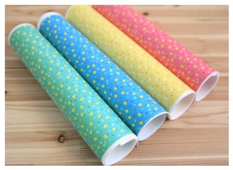 ผ้าสักหลาดพิมล์ลายดอกไม้เอิร์ล จากเกาหลี ขนาด 1 mm Size 45x30 cm / ชิ้น (Pre-order)