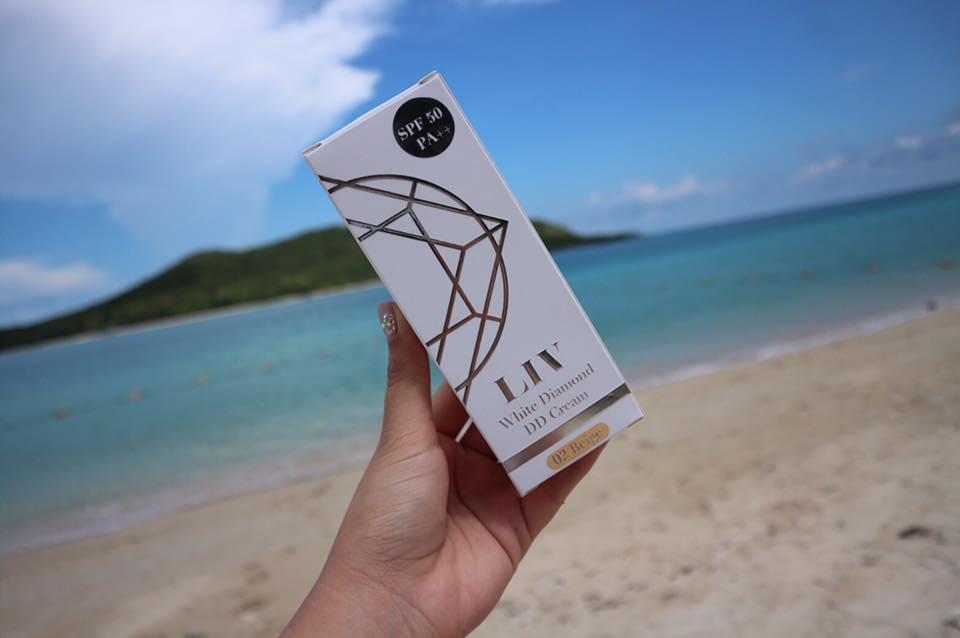 Liv White Diamond DD Cream 15 ml. ลิฟ ดีดี ครีม รองพื้นกันแดดเพชรแท้