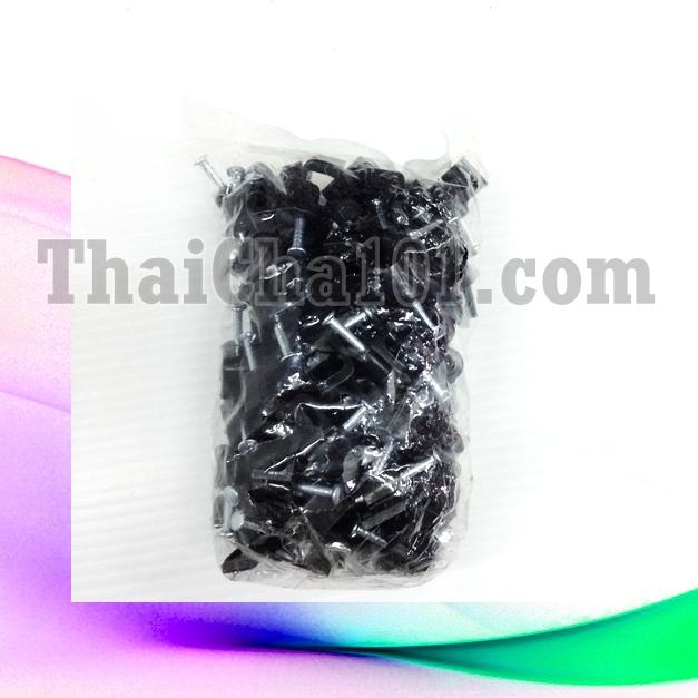 กิ๊ปจับสายRG6 แพ็คถุง100ตัว สีดำ