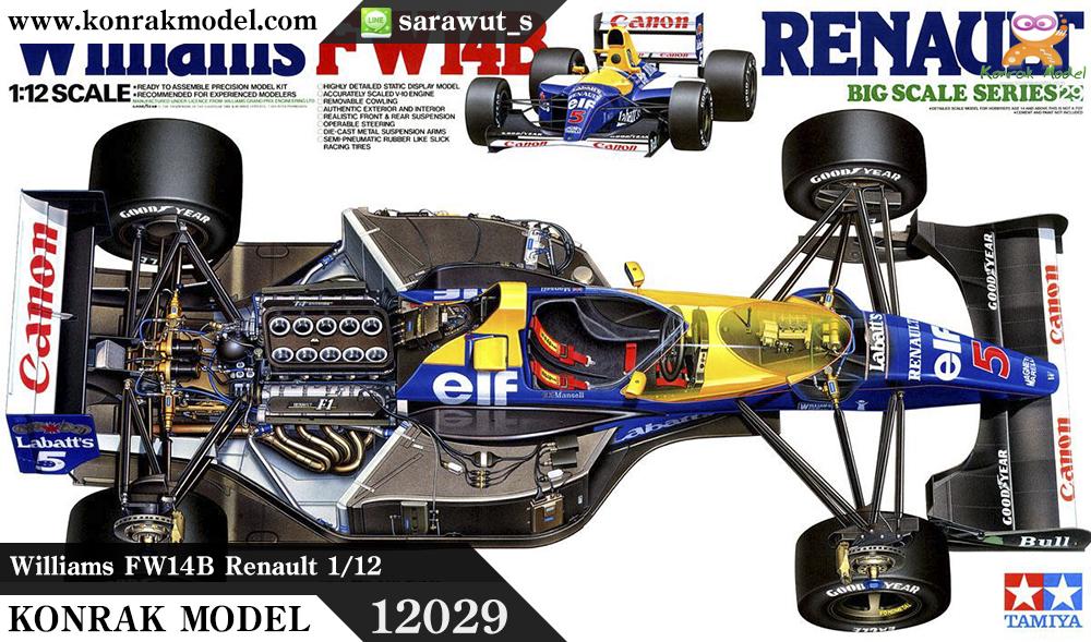 TA12029 Williams FW14B Renault 1/12