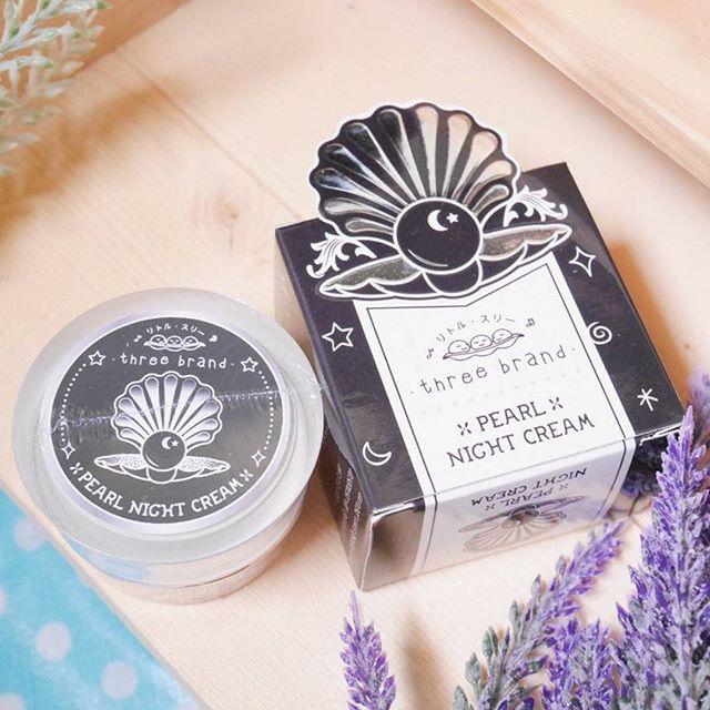 Pearl Night Cream by Three Brand 10 g. เพิร์ล ไนท์ครีม เนื้อมูส สูตรไข่มุกแท้จากเกาหลี