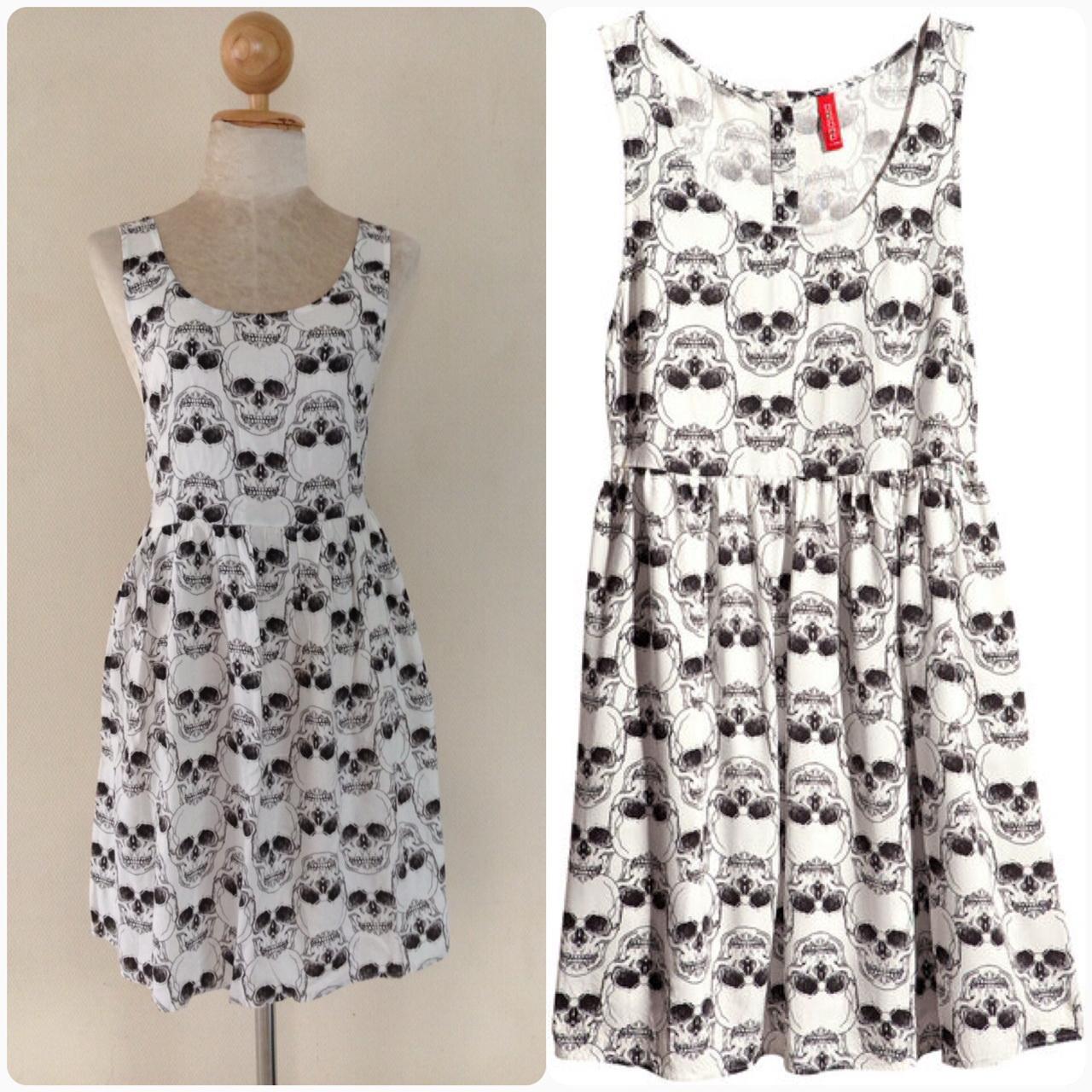 ็H&M Skull Dress Size S