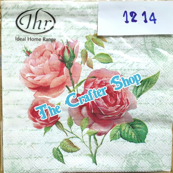 napkin ลายดอกกุหลาบ (รหัสสินค้า NA-1214)