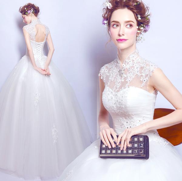 (Pre-Order) ชุดแต่งงาน <แขนกุด> รหัสสินค้า WDL0831