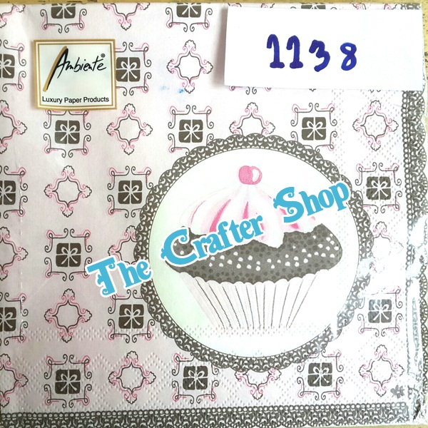 napkin ลายเค้ก (รหัสสินค้า NA-1138)