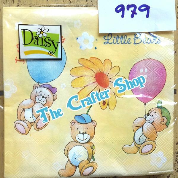 napkin ลายหมีการ์ตูน (รหัสสินค้า NA-979)