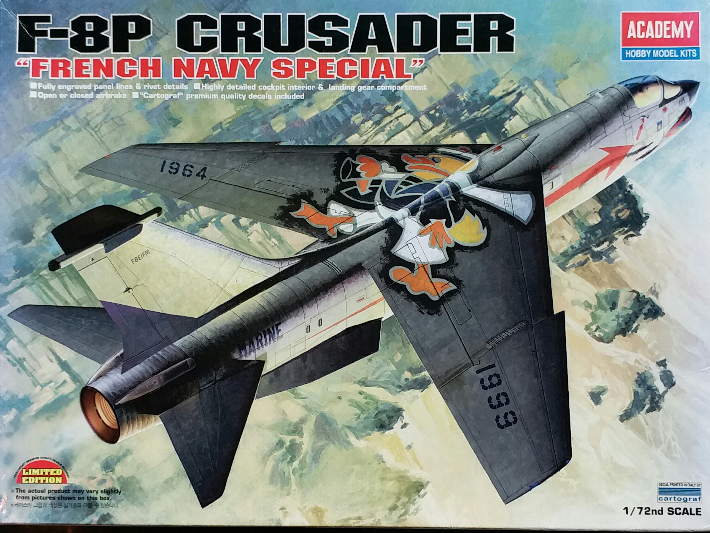 """AC12407 F-8P CRUSADER """"FRENCH NAVY SPECIAL"""" 1/72"""