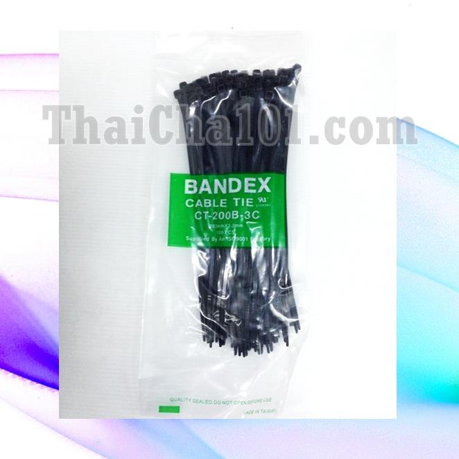 CABLE TIES ยี่ห้อ BANDEX สีดำ 8 นิ้ว