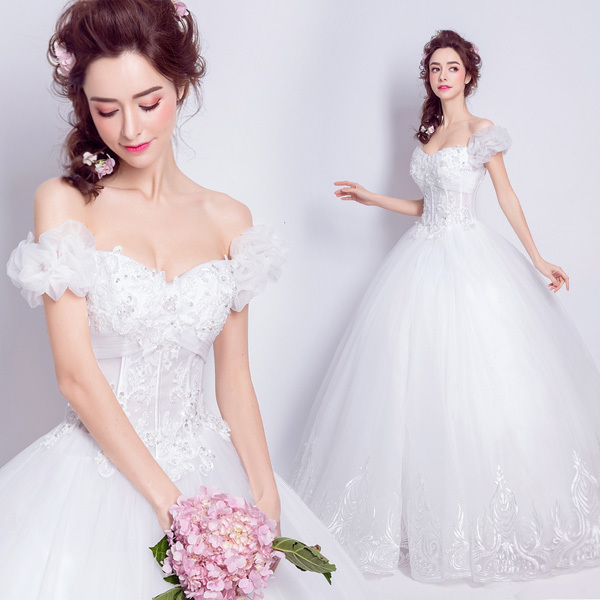(Pre-Order) ชุดแต่งงาน <ไหล่ปาด> รหัสสินค้า WDL0837