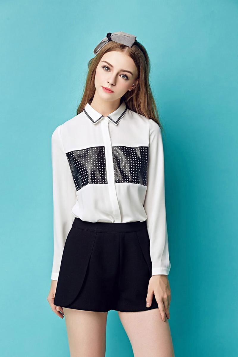 เสื้อเชิ้ต Petite Korean Lapel