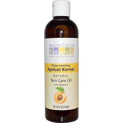 Aura Cacia Rejuvenating Apricot Kernel Skin Care Oil with Vitamin E ขวดใหญ่