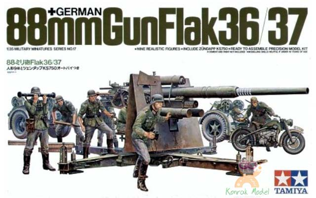 TA35017 1/35 German 88mm Gun Flak 36.37 Kit - CA117