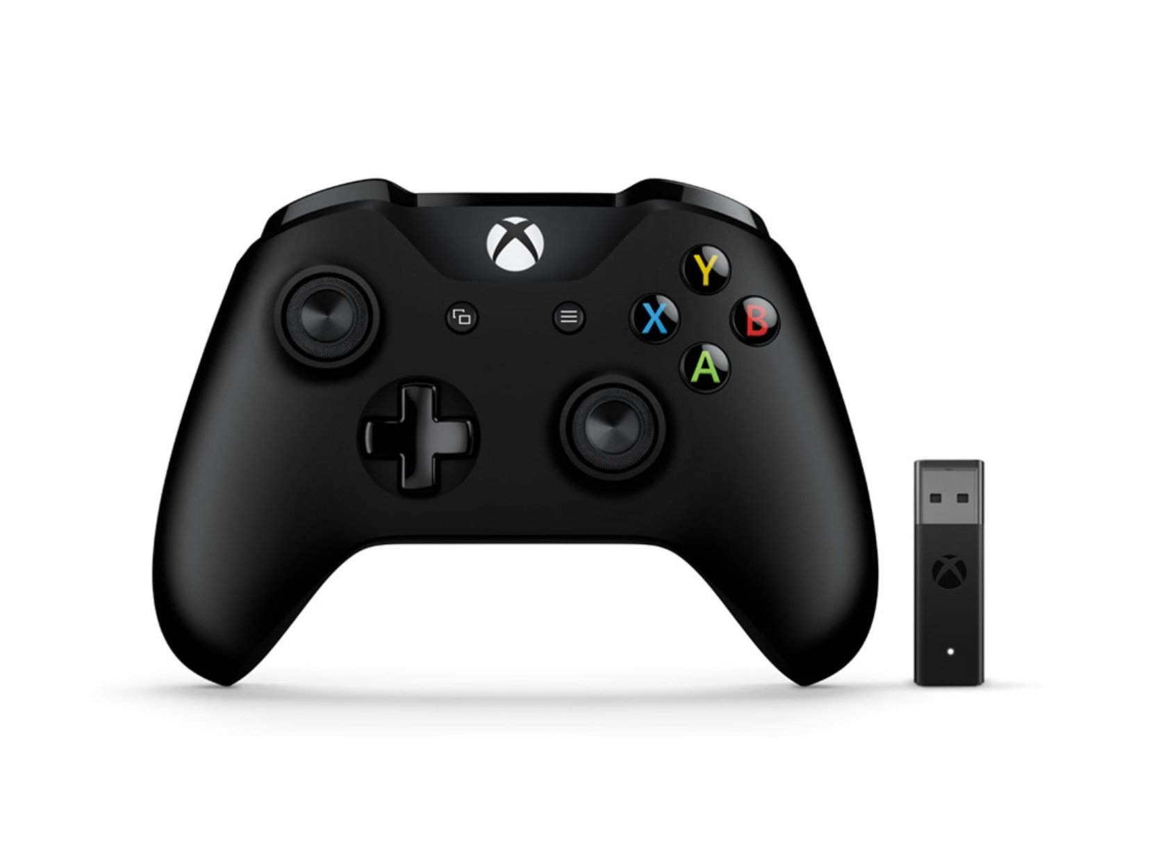 จอย Xbox One S Controller + New Adapter for Windows - Black (Gen 3) (Wireless & Bluetooth)